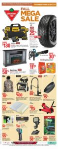 Canadian Tire Flyer October 8 to October 14, 2021 - Page 1 of 20 - Fall Mega Sale - Thanksgiving is October 11