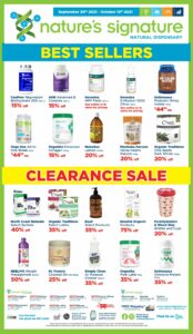 Metro Flyer October 7 to October 13, 2021 - Page 22 of 22 - Nature's signature - Natural Dispensary, Clearance Sale