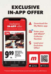 Metro Flyer October 7 to October 13, 2021 - Page 3 of 22 - Exclusive In-app Offer