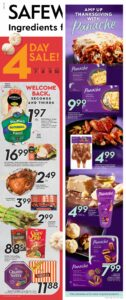 Safeway Flyer October 7 to October 13, 2021 - Page 1 of 20 - Ingrediens For Life - Amp Up Thanksgiving With Panache