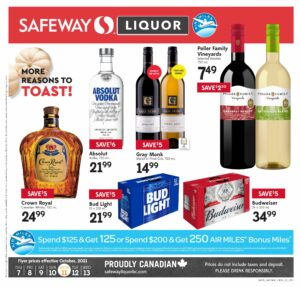 Safeway Flyer October 7 to October 13, 2021 - Page 17 of 20 - Liquor