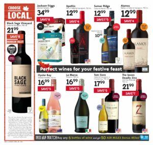 Safeway Flyer October 7 to October 13, 2021 - Page 18 of 20 - Perfect wines for your festive feast