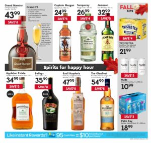 Safeway Flyer October 7 to October 13, 2021 - Page 19 of 20 - spirits for happy hour