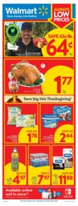 Walmart Flyer October 7 to October 13, 2021 - Page 1 of 21 - Always Low Prices, Save big this Thanksgiving!